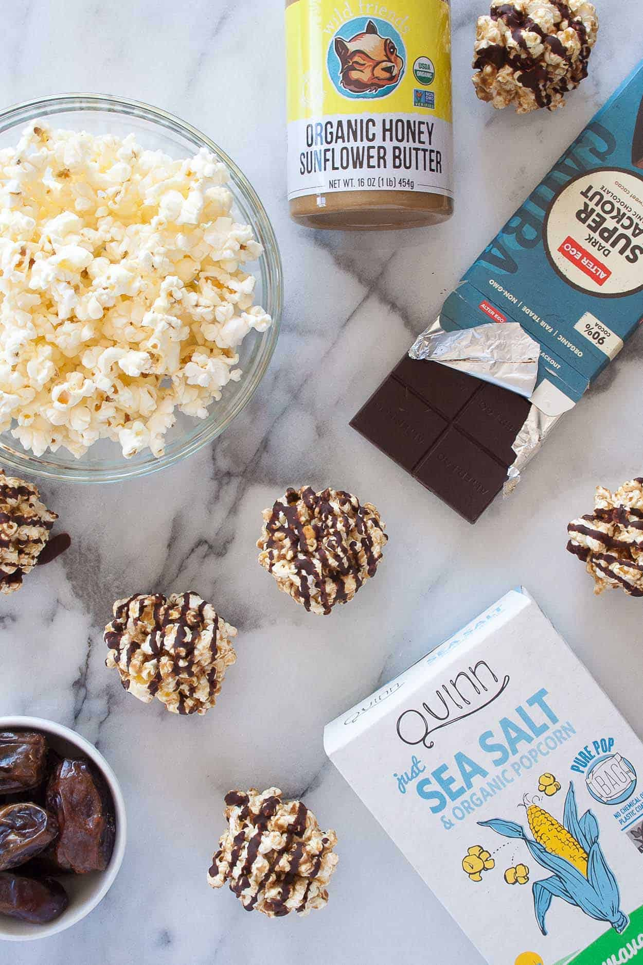 4 Ingredient Healthy Popcorn Balls - Hungry by Nature