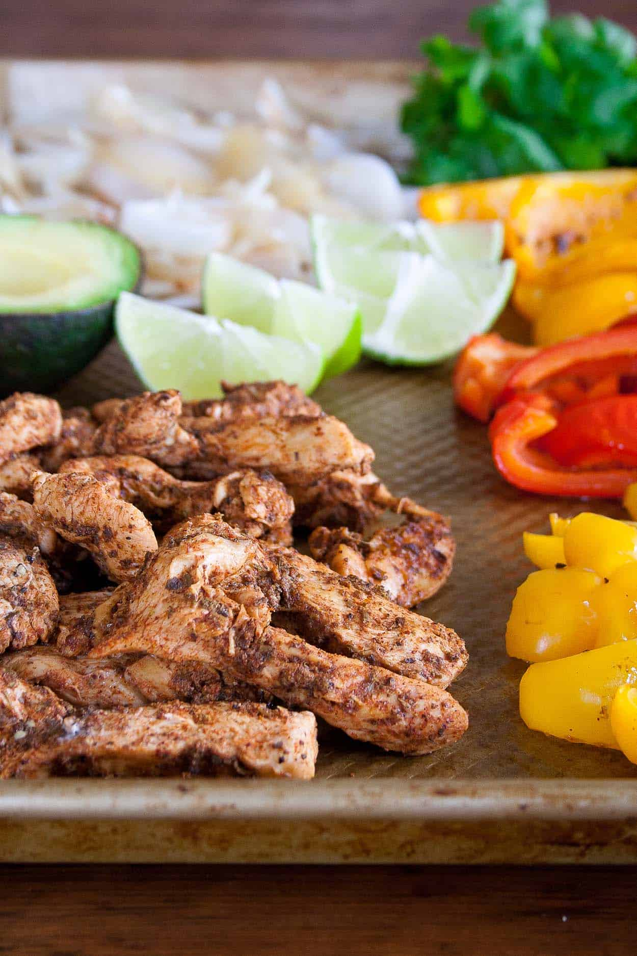 Sheet Pan Chicken Fajitas - Hungry by Nature