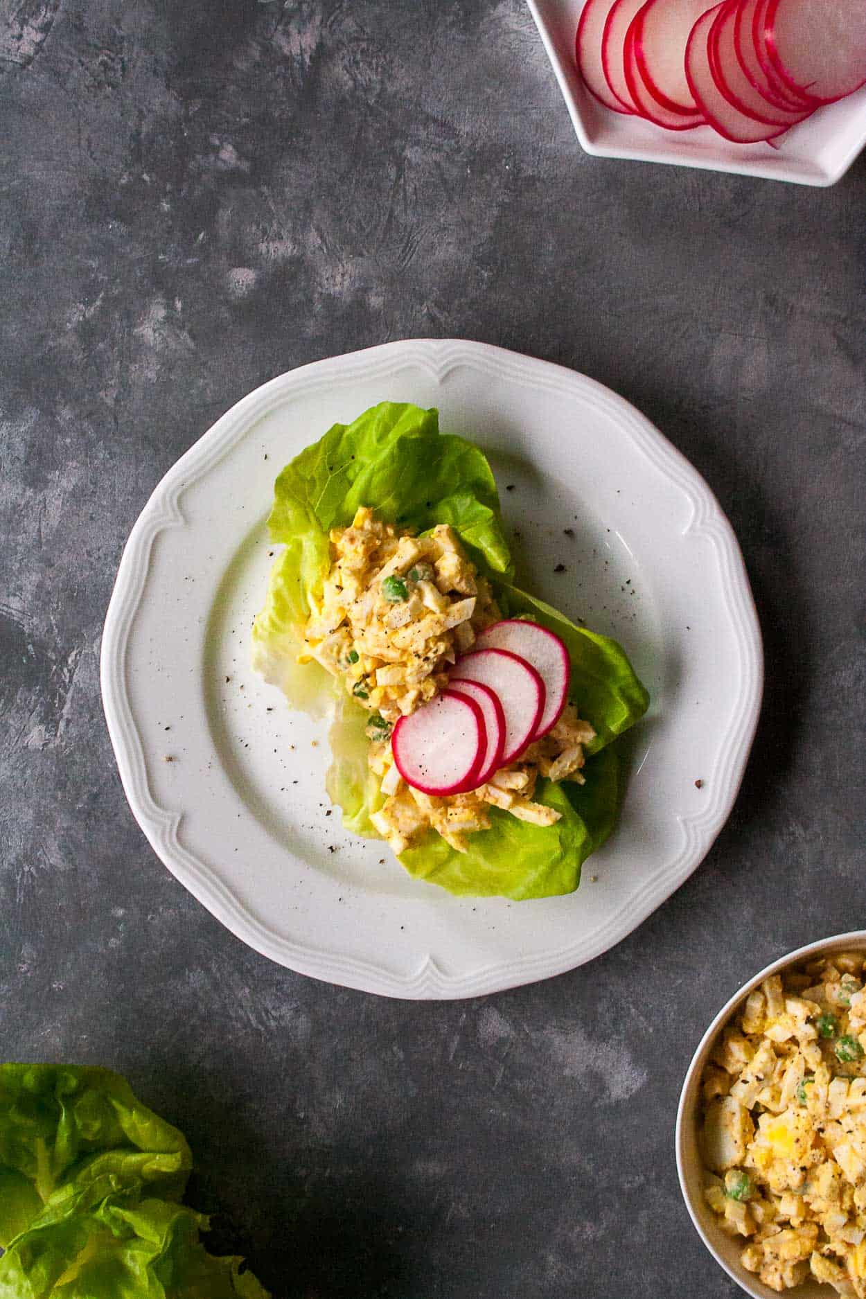Spring Pea Egg Salad Lettuce Wraps Hungry By Nature