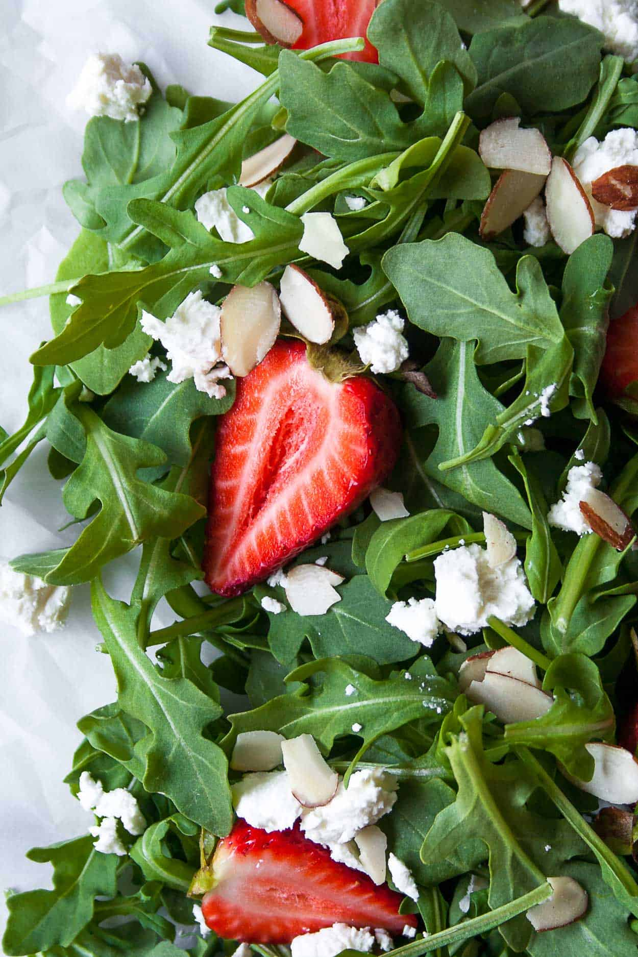 Strawberry Goat Cheese Salad With Green Goddess